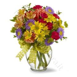 Bouquet di Fiori misti dai colori intensi