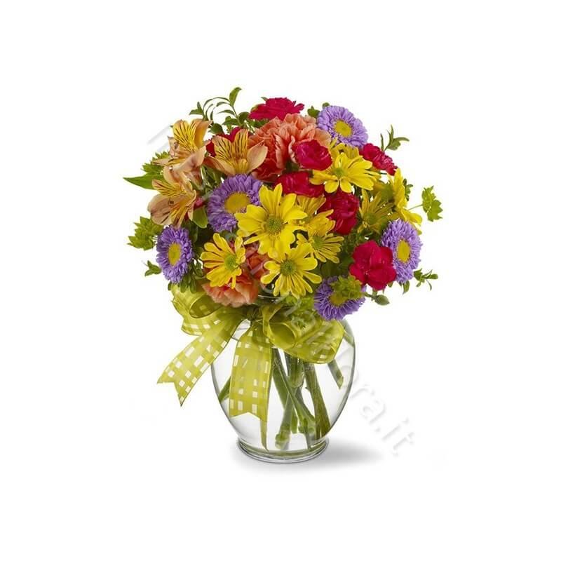 Bouquet di Fiori misti dai colori intensi internationalflora.com