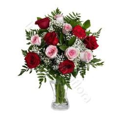 Boquet di Rose rosse e Rose rosa