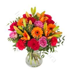 Bouquet di Rose Gigli e Gerbere