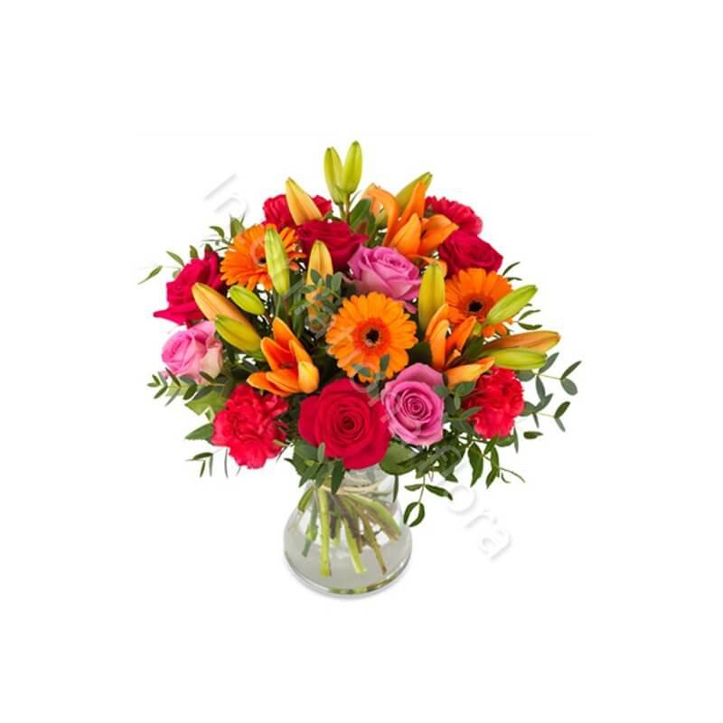 Bouquet di Rose Gigli e Gerbere internationalflora.com