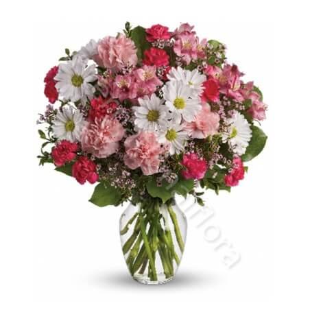 Bouquet di Fiorellini misti dai toni del rosa