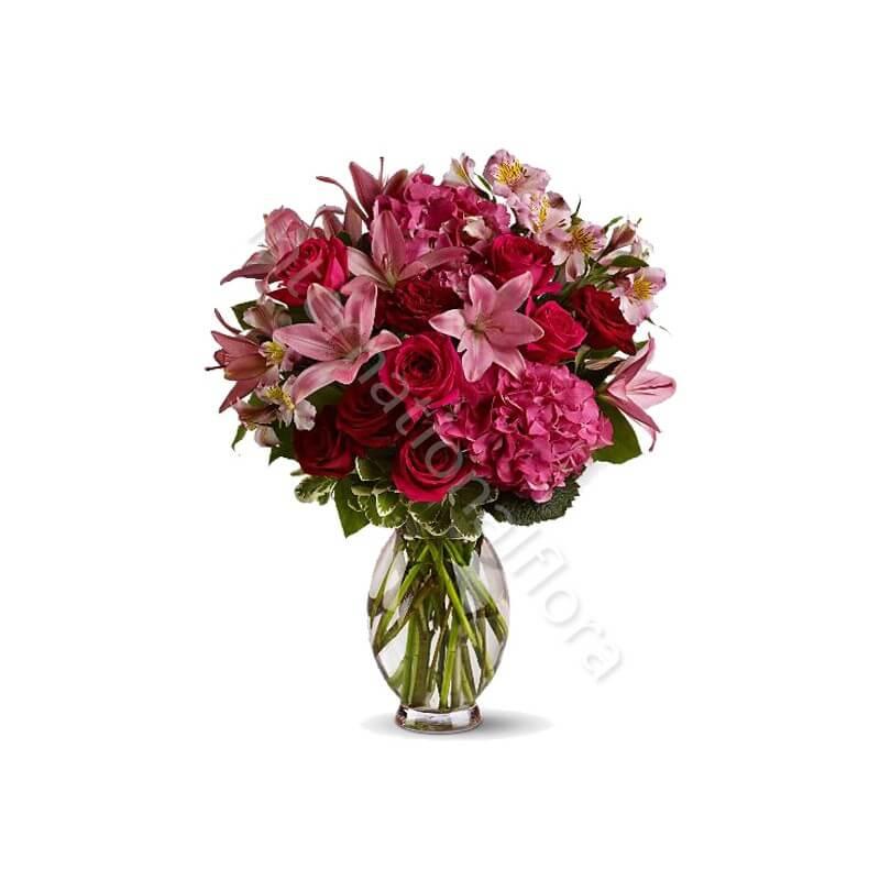 Bouquet di Rose, Gigli e Alstroemerie internationalflora.com
