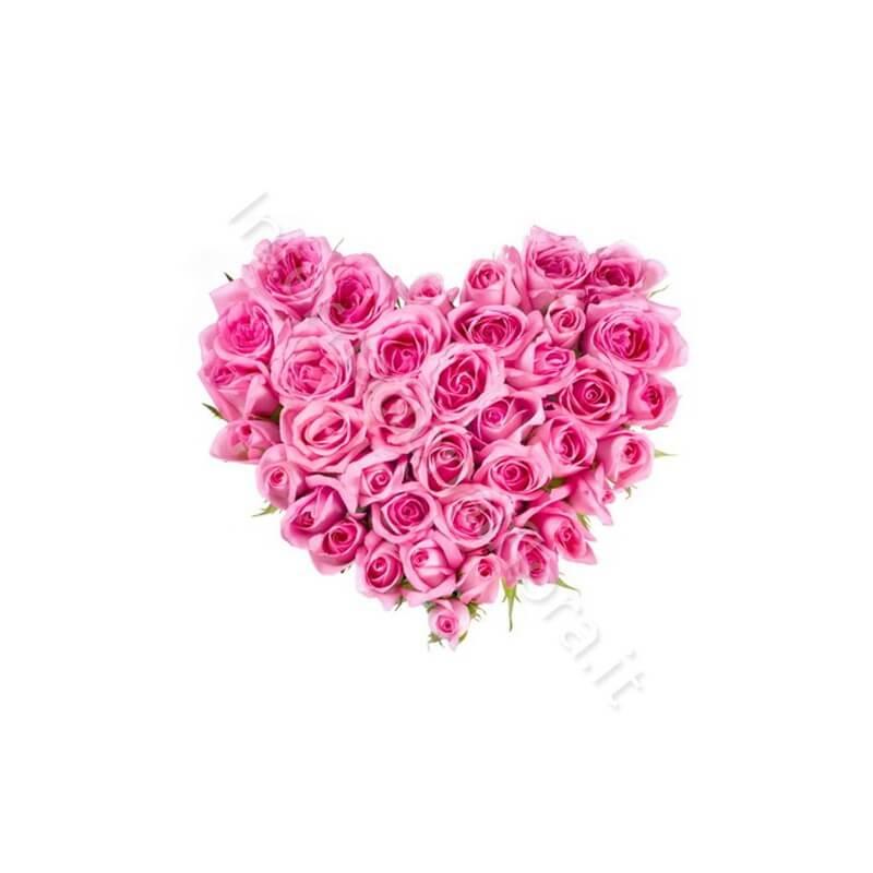 Cuore di Rose rosa internationalflora.com