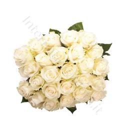 Bouquet di 24 Rose bianche internationalflora.com
