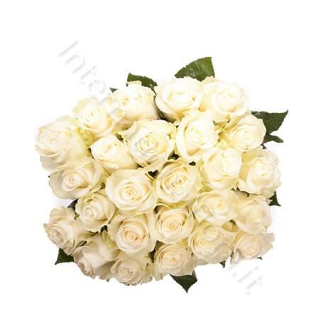 Bouquet di 24 Rose bianche