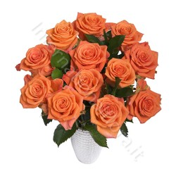 Boquet di 12 Rose arancio