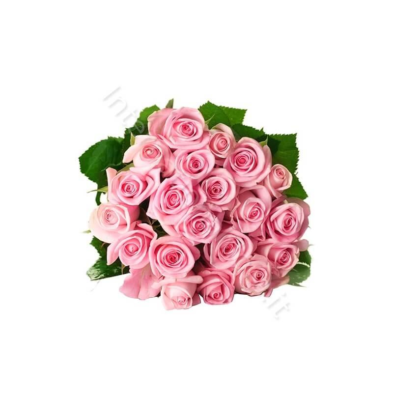 Bouquet di 20 Rose rosa