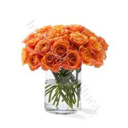 Bouquet di 18 Rose arancio