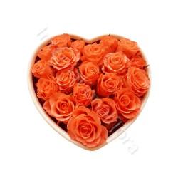 Cuore di Rose arancio