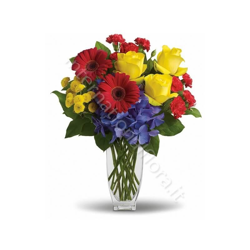 Bouquet di Rose, Gerbere, Garofani e Crisantemi internationalflora.com