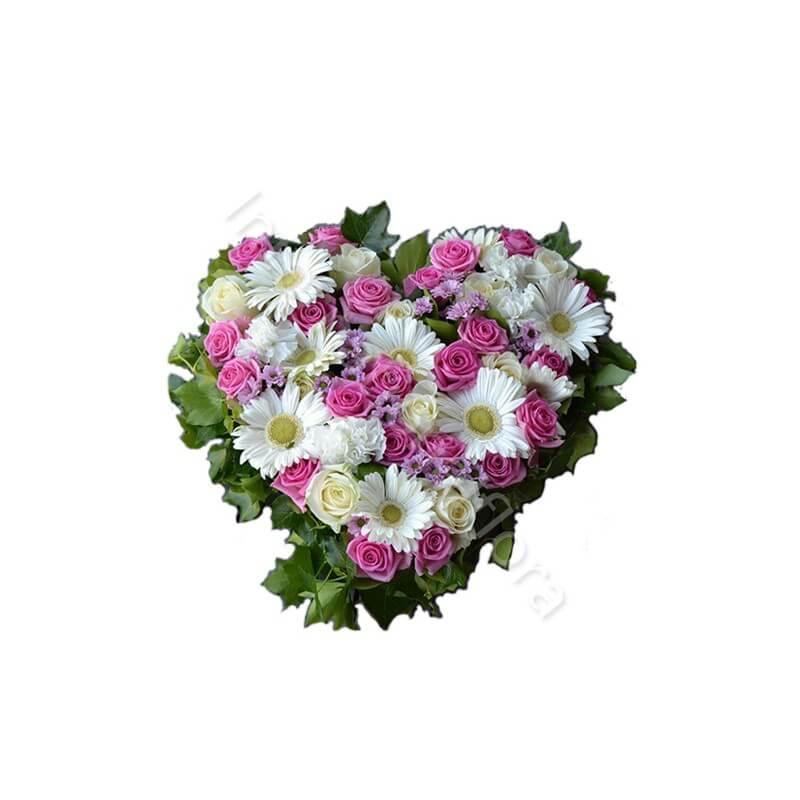 Cuore di Rose Roselline e Gerbere internationalflora.com