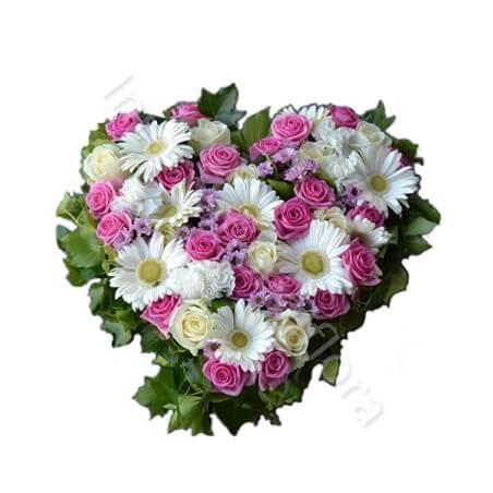 Cuore di Rose Roselline e Gerbere