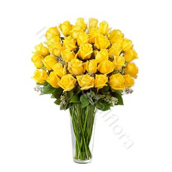 Bouquet di 36 Rose gialle