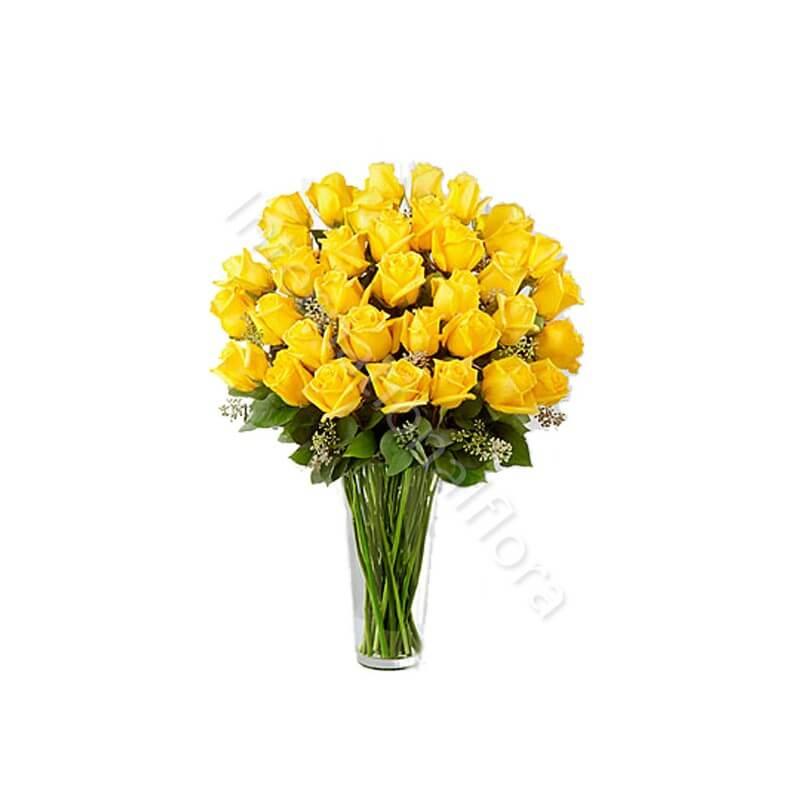Bouquet di 36 Rose gialle internationalflora.com