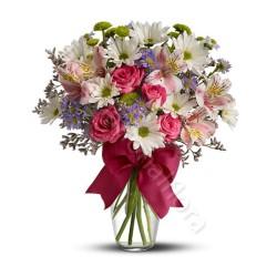 Bouquet beautiful di Fiori misti dai toni  pastello