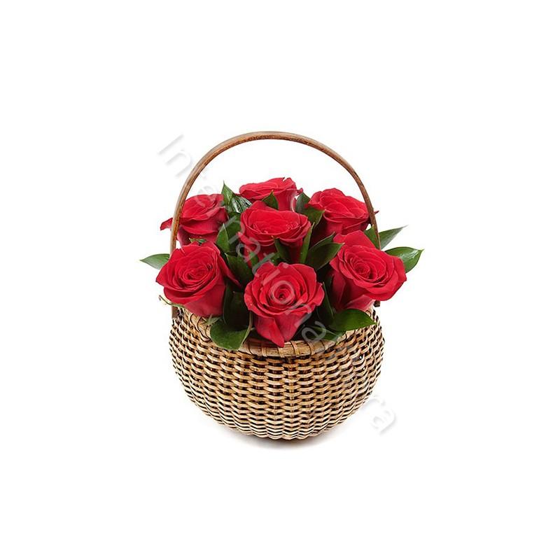 Cesto di Rose rosse internationalflora.com
