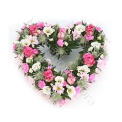 Cuore candido di Roselline e Fiori misti internationalflora.com