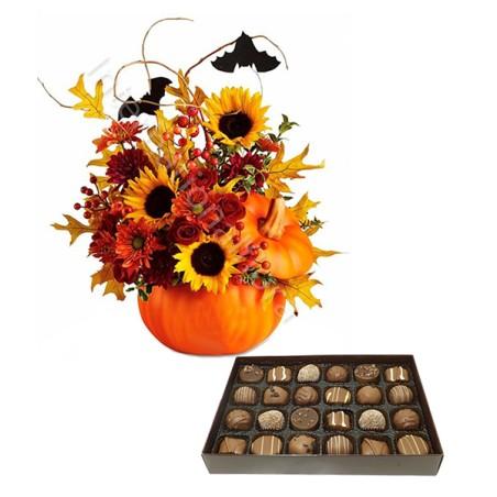 Bouquet Halloween con Scatola di Cioccolatini