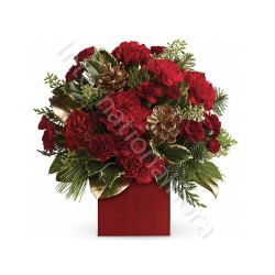 Bouquet di Natale con Garofani internationalflora.com