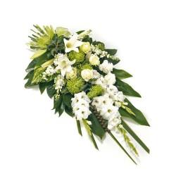Composizione funebre di Gladioli