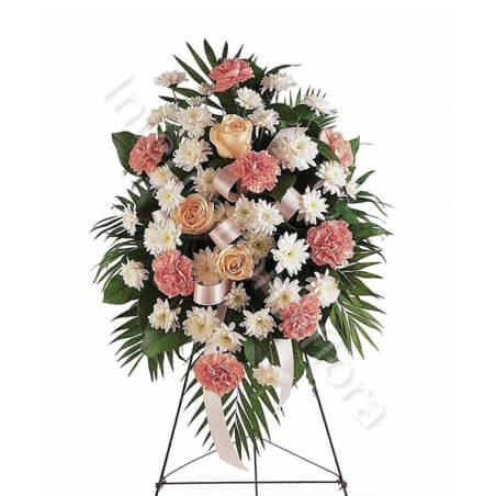 Cuscino funebre di Rose e Crisantemi
