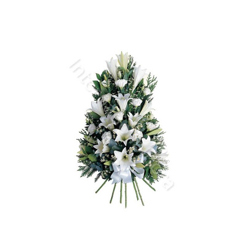 Composizione funebre di Gigli bianchi