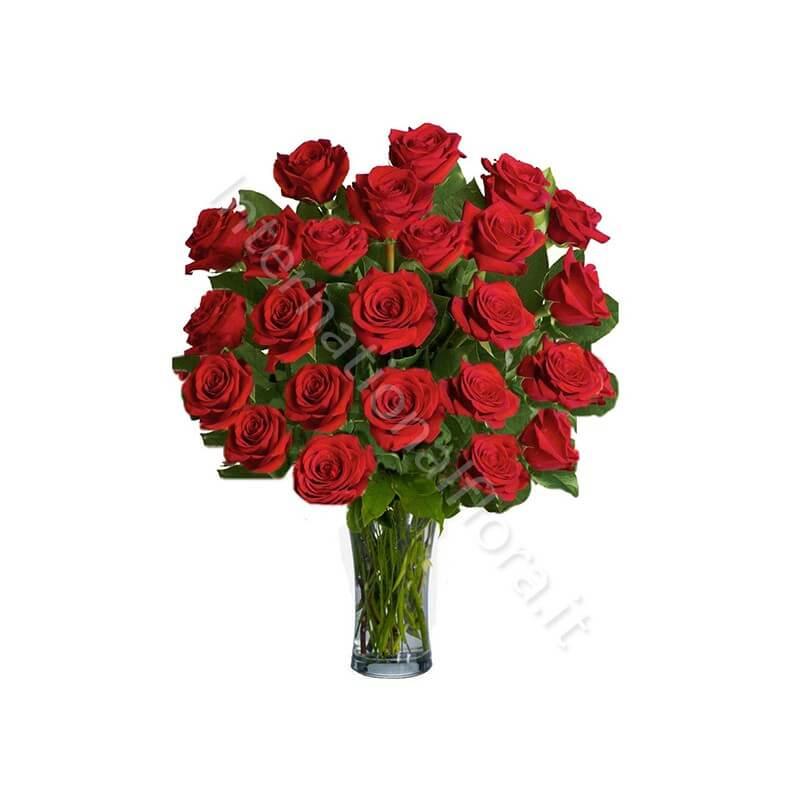 Bouquet di 24 Rose Rosse internationalflora.com