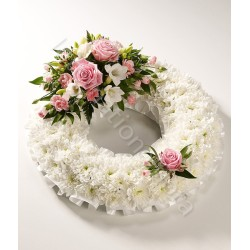 Ghirlanda funebre di Crisantemi e Rose