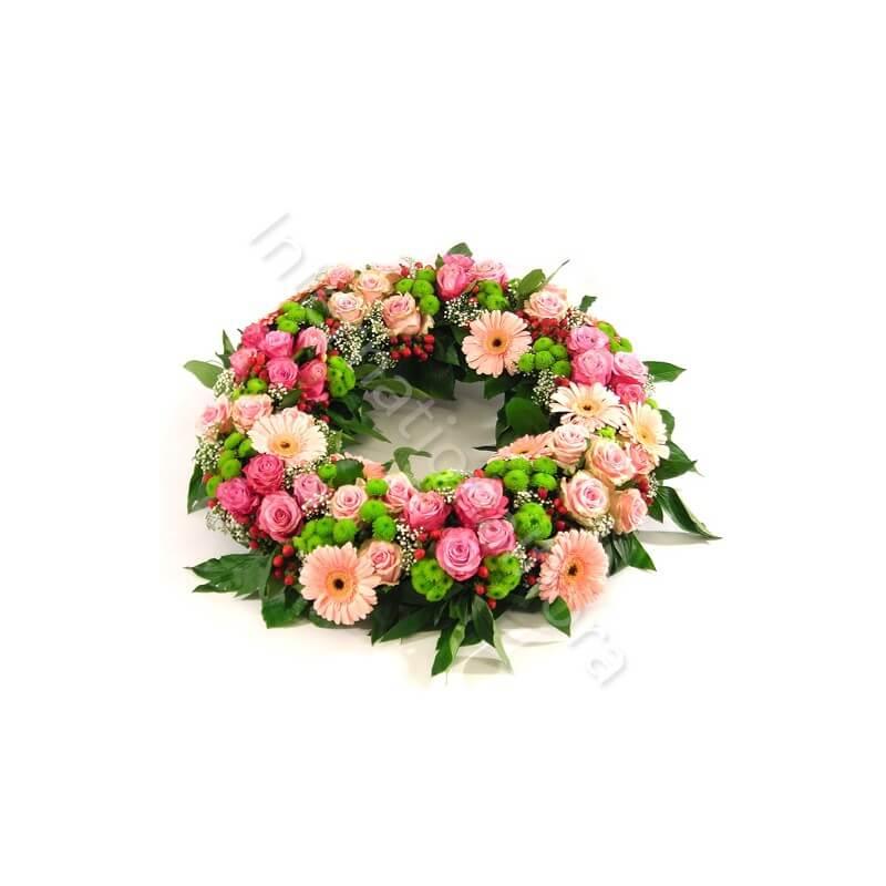 Corona funebre di Rose e Gerbere internationalflora.com