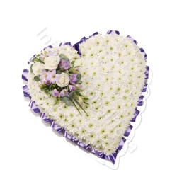 Cuscino funebre di Crisantemi e Rose